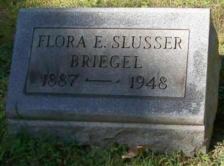 BRIEGEL, FLORA E. SLUSSER - Stark County, Ohio | FLORA E. SLUSSER BRIEGEL - Ohio Gravestone Photos