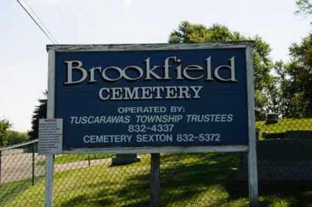 BROOKFIELD CEMETERY, SIGN - Stark County, Ohio | SIGN BROOKFIELD CEMETERY - Ohio Gravestone Photos