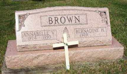 BROWN, ANNABELLE V. - Stark County, Ohio | ANNABELLE V. BROWN - Ohio Gravestone Photos