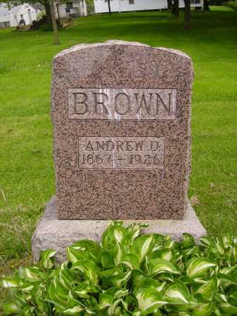 BROWN, ANDREW D. - Stark County, Ohio | ANDREW D. BROWN - Ohio Gravestone Photos