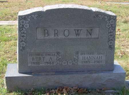 BROWN, BERT A. - Stark County, Ohio | BERT A. BROWN - Ohio Gravestone Photos