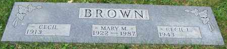 BROWN, CECIL - Stark County, Ohio | CECIL BROWN - Ohio Gravestone Photos