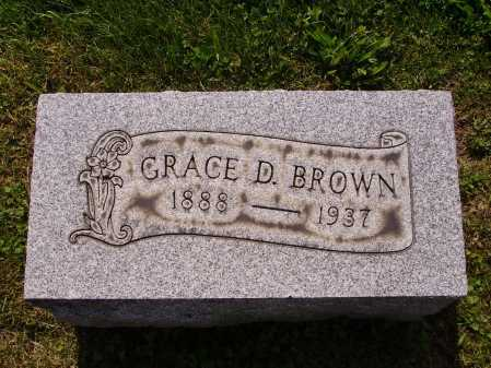 BROWN, GRACE D. - Stark County, Ohio | GRACE D. BROWN - Ohio Gravestone Photos
