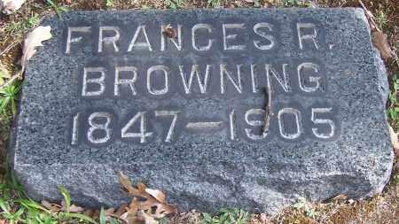 BROWNING, FRANCES R. - Stark County, Ohio | FRANCES R. BROWNING - Ohio Gravestone Photos