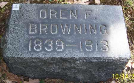 BROWNING, OREN F. - Stark County, Ohio | OREN F. BROWNING - Ohio Gravestone Photos