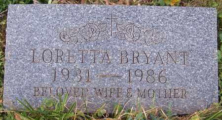 BRYANT, LORETTA - Stark County, Ohio | LORETTA BRYANT - Ohio Gravestone Photos