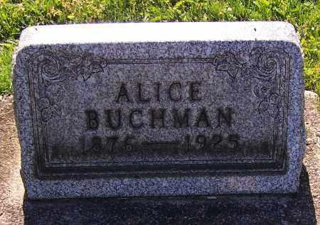 BUCHMAN, ALICE - Stark County, Ohio | ALICE BUCHMAN - Ohio Gravestone Photos