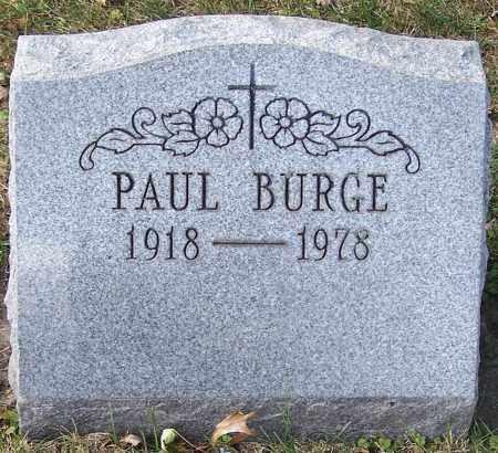 BURGE, PAUL - Stark County, Ohio | PAUL BURGE - Ohio Gravestone Photos