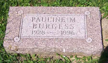 BURGESS, PAULINE M. - Stark County, Ohio   PAULINE M. BURGESS - Ohio Gravestone Photos