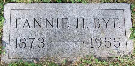 BYE, FANNIE H. - Stark County, Ohio   FANNIE H. BYE - Ohio Gravestone Photos