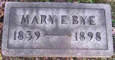 BYE, MARY E. - Stark County, Ohio | MARY E. BYE - Ohio Gravestone Photos