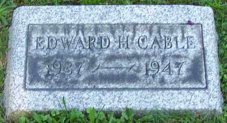 CABLE, EDWARD H. - Stark County, Ohio | EDWARD H. CABLE - Ohio Gravestone Photos