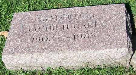 CABLE, JACOB H. - Stark County, Ohio | JACOB H. CABLE - Ohio Gravestone Photos