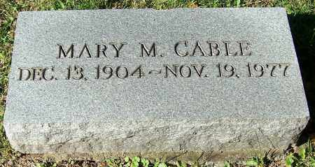 CABLE, MARY M. - Stark County, Ohio | MARY M. CABLE - Ohio Gravestone Photos