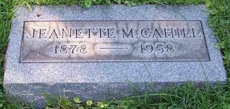CAHILL, JEANETTE M. - Stark County, Ohio | JEANETTE M. CAHILL - Ohio Gravestone Photos