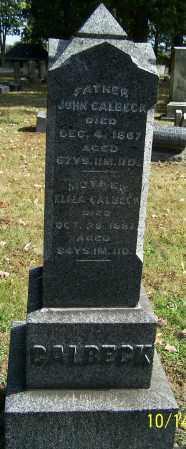 CALBECK, ELIZA - Stark County, Ohio | ELIZA CALBECK - Ohio Gravestone Photos