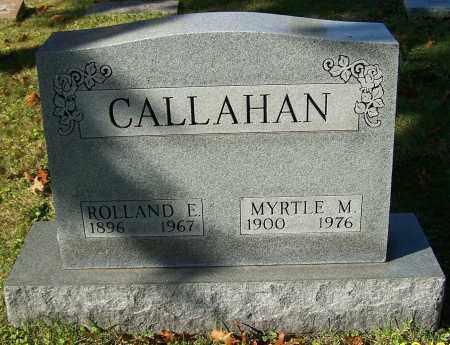 CALLAHAN, ROLLAND E. - Stark County, Ohio   ROLLAND E. CALLAHAN - Ohio Gravestone Photos