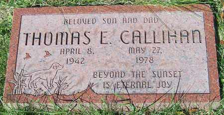 CALLIHAN, THOMAS E. - Stark County, Ohio   THOMAS E. CALLIHAN - Ohio Gravestone Photos