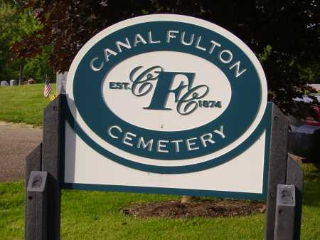 CANAL FULTON, CEMETERY SIGN - Stark County, Ohio | CEMETERY SIGN CANAL FULTON - Ohio Gravestone Photos
