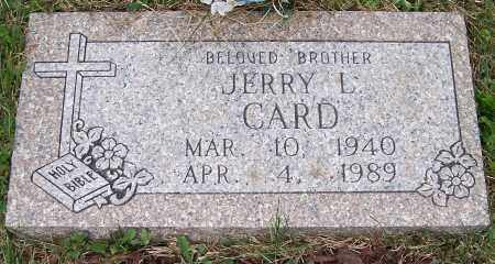 CARD, JERRY L. - Stark County, Ohio   JERRY L. CARD - Ohio Gravestone Photos
