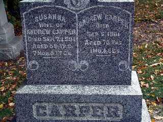 KEISER CARPER, SUSANNA - Stark County, Ohio | SUSANNA KEISER CARPER - Ohio Gravestone Photos