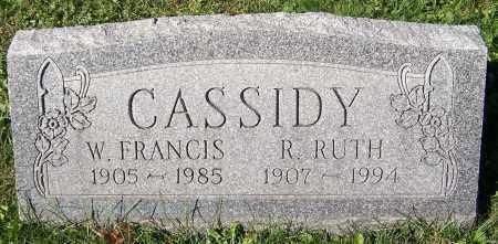 CASSIDY, W. FRANCIS - Stark County, Ohio | W. FRANCIS CASSIDY - Ohio Gravestone Photos