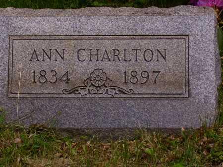 CHARLTON, ANN - Stark County, Ohio | ANN CHARLTON - Ohio Gravestone Photos