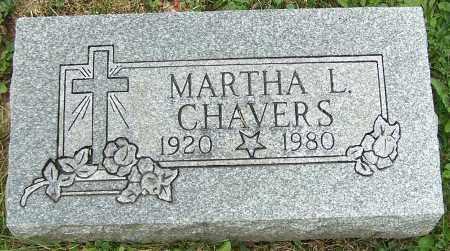 CHAVERS, MARTHA L. - Stark County, Ohio | MARTHA L. CHAVERS - Ohio Gravestone Photos