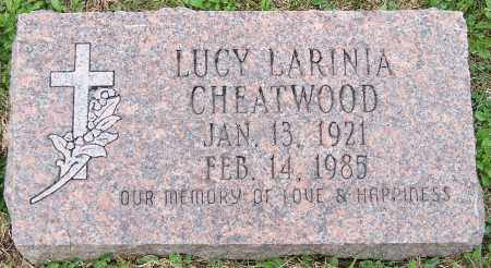 CHEATWOOD, LUCY LARINIA - Stark County, Ohio | LUCY LARINIA CHEATWOOD - Ohio Gravestone Photos
