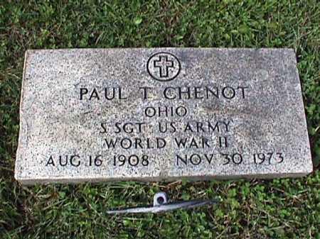 CHENOT, PAUL T. - Stark County, Ohio | PAUL T. CHENOT - Ohio Gravestone Photos