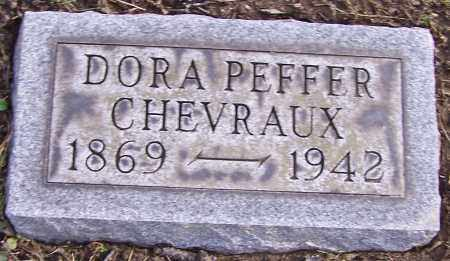 CHEVRAUX, DORA PEFFER - Stark County, Ohio | DORA PEFFER CHEVRAUX - Ohio Gravestone Photos