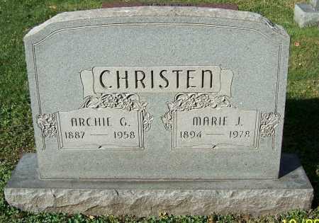 CHRISTEN, ARCHIE G. - Stark County, Ohio | ARCHIE G. CHRISTEN - Ohio Gravestone Photos