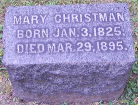 CHRISTMAN, MARY - Stark County, Ohio   MARY CHRISTMAN - Ohio Gravestone Photos