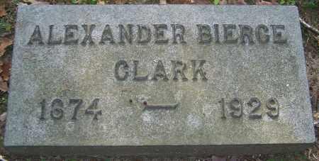 CLARK, ALEXANDER BIERCE - Stark County, Ohio | ALEXANDER BIERCE CLARK - Ohio Gravestone Photos