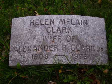 MCLAIN CLARK, HELEN - Stark County, Ohio   HELEN MCLAIN CLARK - Ohio Gravestone Photos