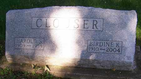 CLOUSER, HAROLD S. - Stark County, Ohio   HAROLD S. CLOUSER - Ohio Gravestone Photos