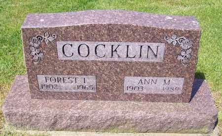 COCKLIN, ANN M. - Stark County, Ohio   ANN M. COCKLIN - Ohio Gravestone Photos