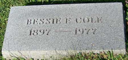 COLE, BESSIE E. - Stark County, Ohio | BESSIE E. COLE - Ohio Gravestone Photos