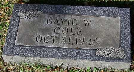 COLE, DAVID W. - Stark County, Ohio | DAVID W. COLE - Ohio Gravestone Photos