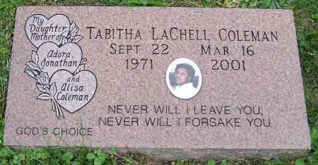 COLEMAN, TABITHA LACHELL - Stark County, Ohio | TABITHA LACHELL COLEMAN - Ohio Gravestone Photos