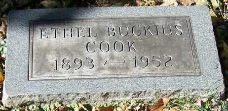 COOK, ETHEL BUCKIUS - Stark County, Ohio | ETHEL BUCKIUS COOK - Ohio Gravestone Photos