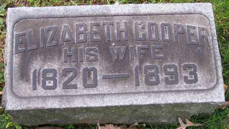 COOPER, ELIZABETH - Stark County, Ohio | ELIZABETH COOPER - Ohio Gravestone Photos