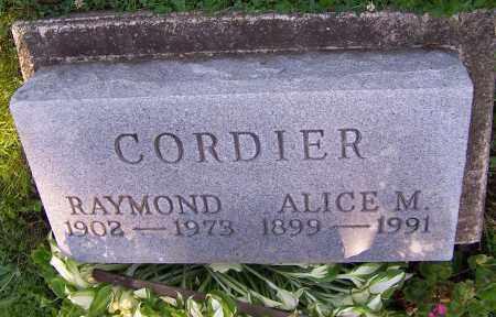 CORDIER, ALICE M. - Stark County, Ohio   ALICE M. CORDIER - Ohio Gravestone Photos