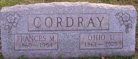 CORDRAY, FRANCES M. - Stark County, Ohio | FRANCES M. CORDRAY - Ohio Gravestone Photos