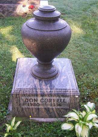 CORRELL, DON - Stark County, Ohio | DON CORRELL - Ohio Gravestone Photos