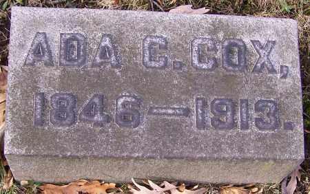 COX, ADA C. - Stark County, Ohio   ADA C. COX - Ohio Gravestone Photos