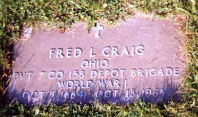 CRAIG, FRED L. - Stark County, Ohio | FRED L. CRAIG - Ohio Gravestone Photos