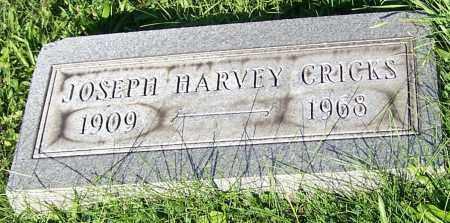 CRICKS, JOSEPH HARVEY - Stark County, Ohio   JOSEPH HARVEY CRICKS - Ohio Gravestone Photos