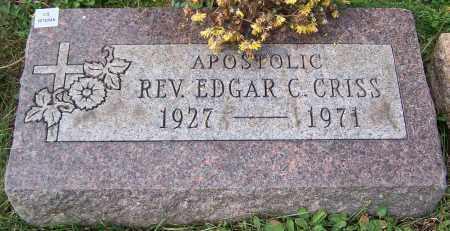 CRISS, REV. EDGAR C. - Stark County, Ohio | REV. EDGAR C. CRISS - Ohio Gravestone Photos