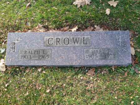 CROWL, RALPH L - Stark County, Ohio | RALPH L CROWL - Ohio Gravestone Photos